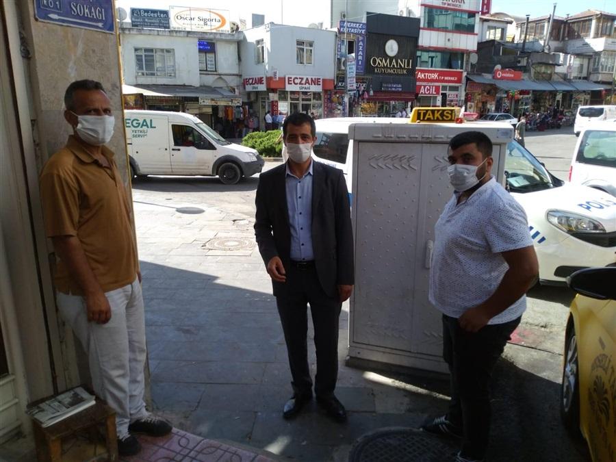 İl Müdürümüz Mehmet Aydın TÜRK, koronavirüs tedbirleri kapsamında denetim gerçekleştirdi..